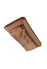 Bull & Hunt Weiches Damen Geldbörse mit Reißverschluss Rundum Vintage Sand
