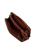 Bull & Hunt Weiches Damen Geldbörse mit Reißverschluss Rundum Vintage Cognac