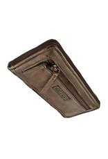 Bull & Hunt Weiches Damen Geldbörse mit Reißverschluss Rundum Vintage Bronze
