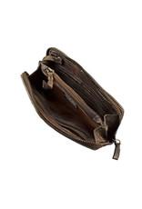 Bull & Hunt Soepel Leren Dames Portemonnee Met Rits Rondom Vintage Brons