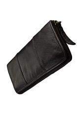 Bull & Hunt Weiches Damen Geldbörse mit Reißverschluss Rundum Vintage Schwarz