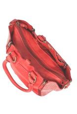 Bull & Hunt Weiches Leder Handtasche Umhängetasche Rot