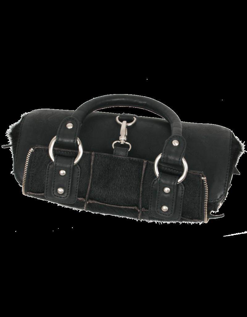 Bull & Hunt Leder Handtasche Umhängetasche Sherpa Schwarz