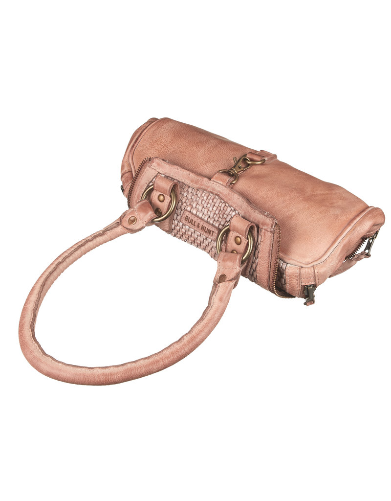 Bull & Hunt Gevlochten Leren Handtas Schoudertas Washed Leather Blossom