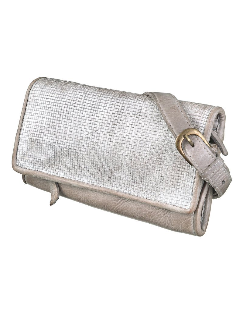Bull & Hunt Weiches Leder Gürteltasche Umhängetasche Silber