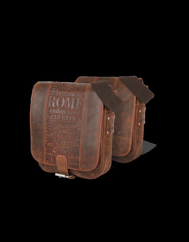 Bull & Hunt Kleine Leder Herrentasche Damentasche Umhängetasche City Cognac