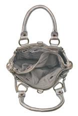 Bull & Hunt Kleine Geflochtenes Leder Handtasche Umhängetasche Grau