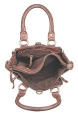 Bull & Hunt Kleine Geflochtenes Leder Handtasche Umhängetasche Braun