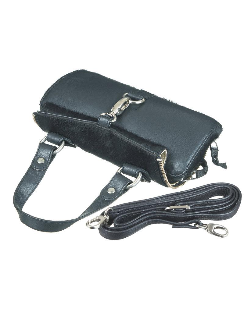Bull & Hunt Kleine Leder Handtasche Haut Schwarz