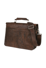 Bull & Hunt Geräumige Leder Arbeitstasche Messeneger Bag Vintage Braun