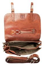 Bull & Hunt Ruime Leren Werktas Messenger Bag Vintage Cognac