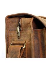 Scaramanga Small Männertasche Retro Schultasche Büffel Leder