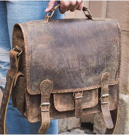 Scaramanga Small Damentasche Retro Schultasche Büffel Leder