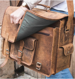 Scaramanga Large Dames Retro Schooltas Hunter Buffelleer