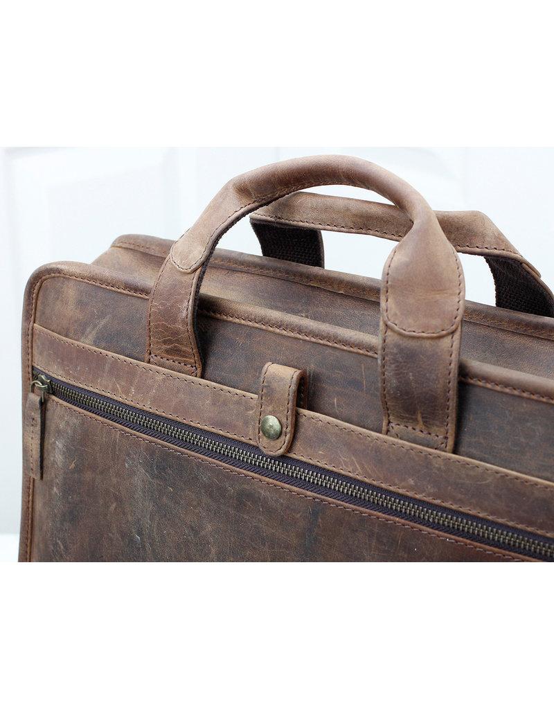 Scaramanga Büffellederne Laptoptasche Arbeitstasche Herrentasche Damentasche