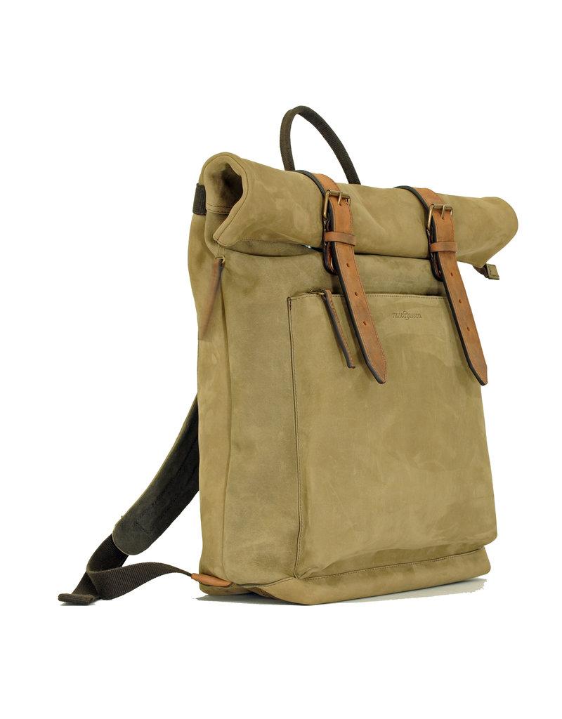 Ruitertassen Handverarbeitete Leder Rolltop Rucksack