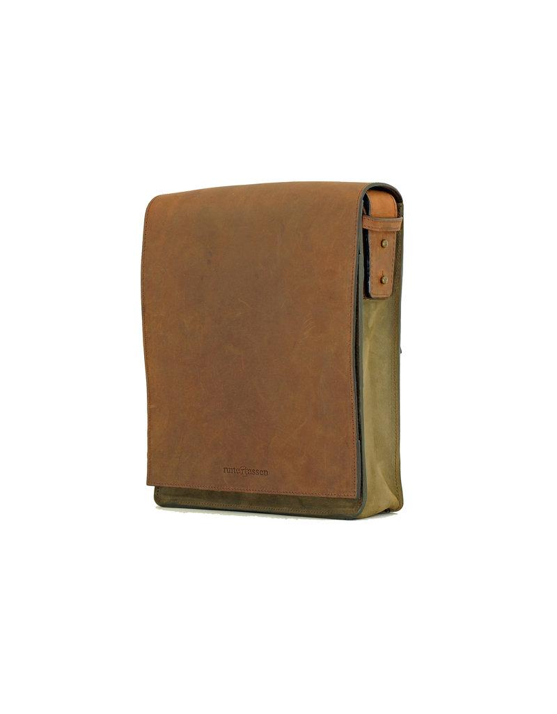 Ruitertassen Handverarbeitete Leder Postmanbag Überschlagtasche