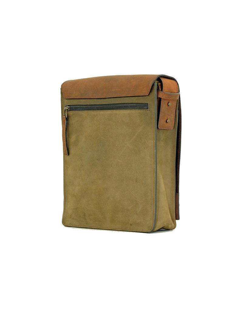 Ruitertassen Handgemaakte Leren Overslagtas Postmanbag