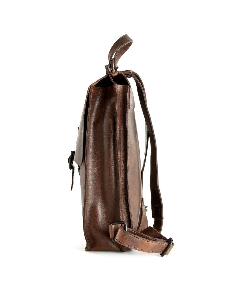 Harold's Retro Klassische Leder Rücksack