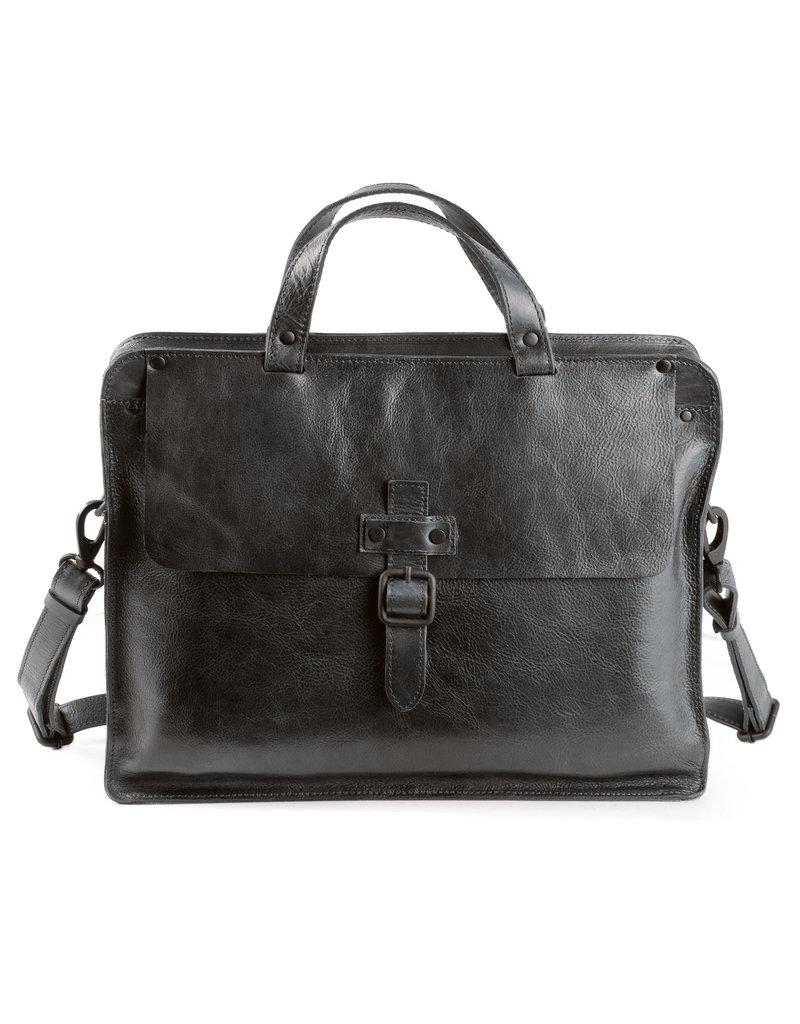 Harold's Retro Klassische Leder Arbeitstasche Businessbag