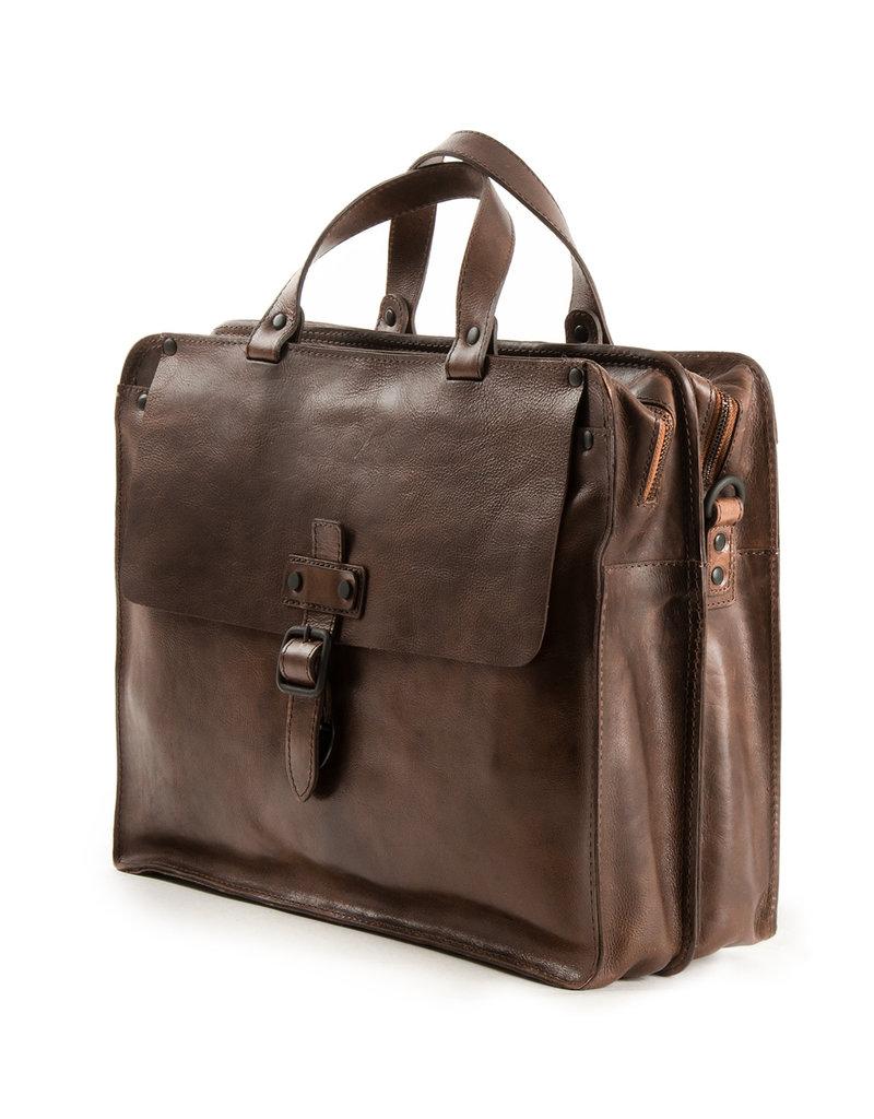 Harold's Retro Klassiek XL Leren Werktas Businessbag