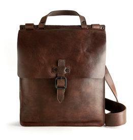 Harold's Retro Klassische Leder Umhängetasche Postmanbag