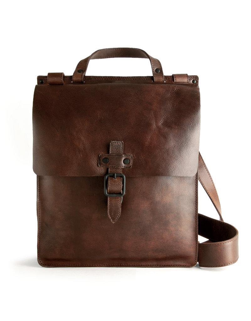 Harold's Retro Klassiek Leren Overslagtas Postmanbag