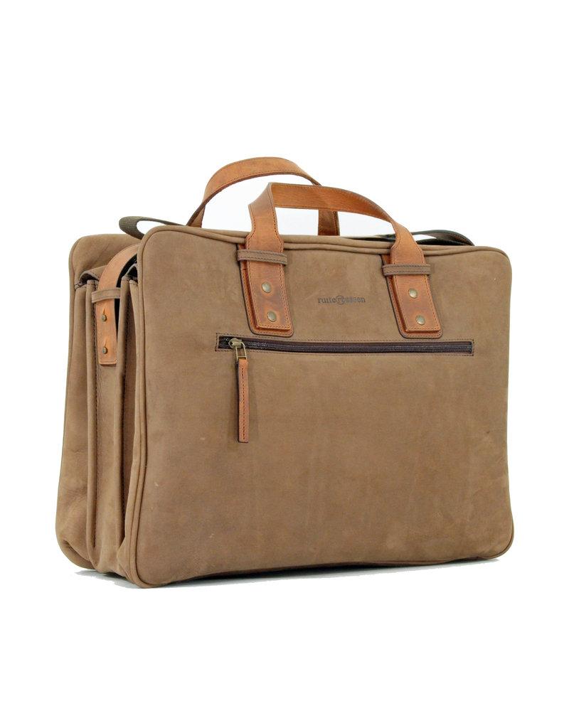 Ruitertassen Geräumige Handverarbeitete Leder Arbeitstasche Messenger Bag  Braun