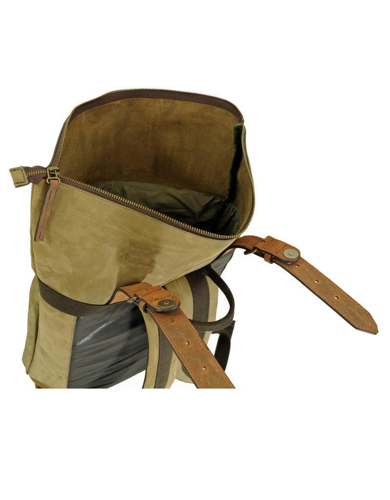 Ruitertassen Handverarbeitete Leder Rolltop Rucksack Braun