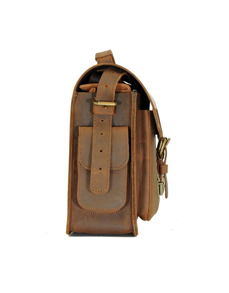 Ruitertassen Geräumige Handverarbeitete Leder Kameratasche