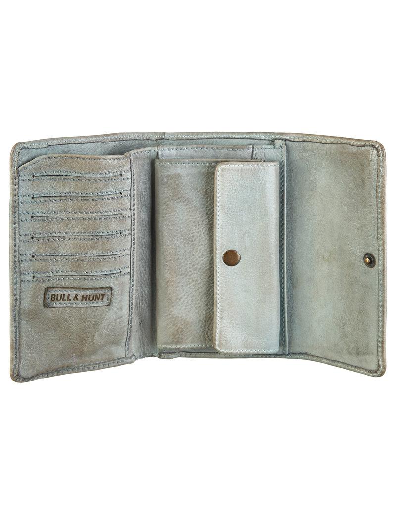 Bull & Hunt Weiches Damen Geldbörse Vintage Grau