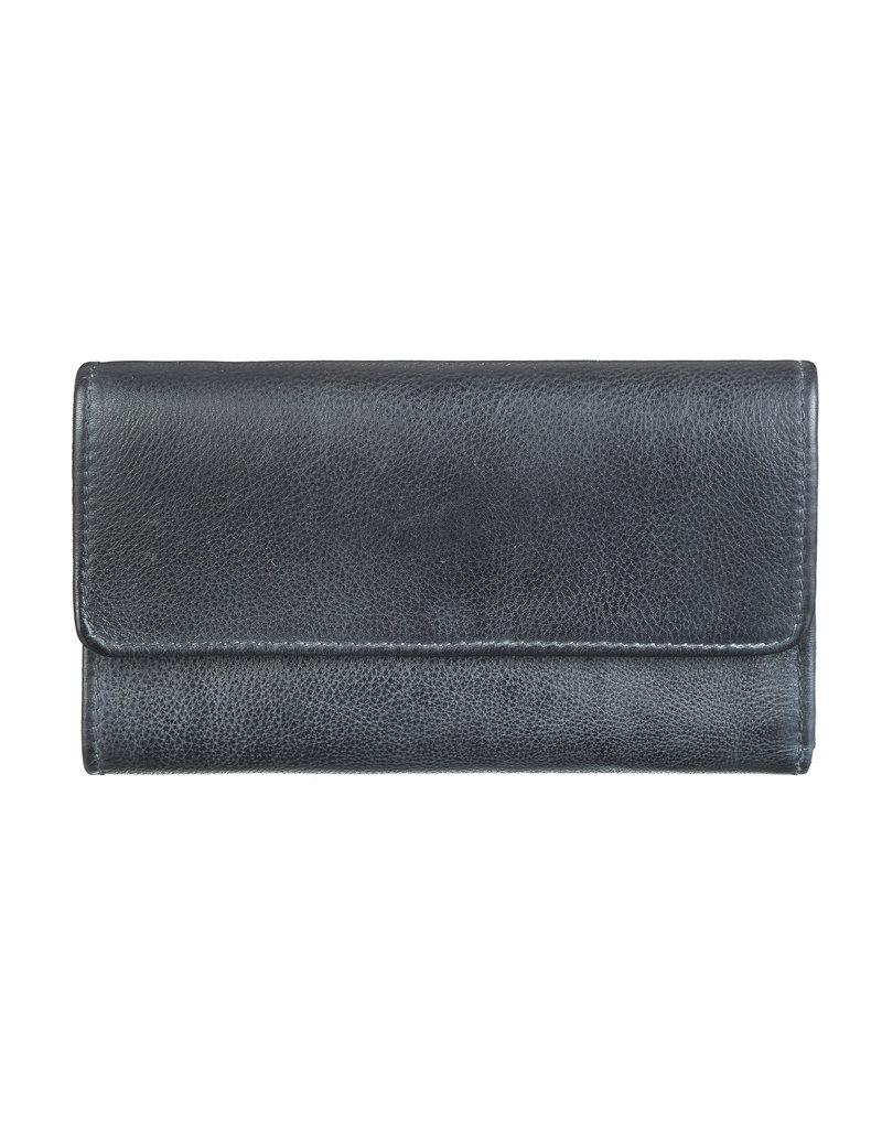 Bull & Hunt Weiches Damen Geldbörse Vintage Blau