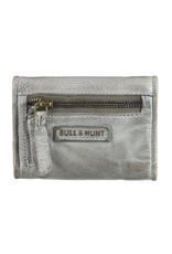 Bull & Hunt Kleines Weiches Damen Geldbörse Vintage Grau