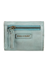 Bull & Hunt Kleines Weiches Damen Geldbörse Vintage Hellblau