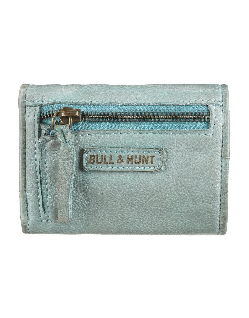 Bull & Hunt Kleine Soepel Leren Dames Portemonnee Lichtblauw