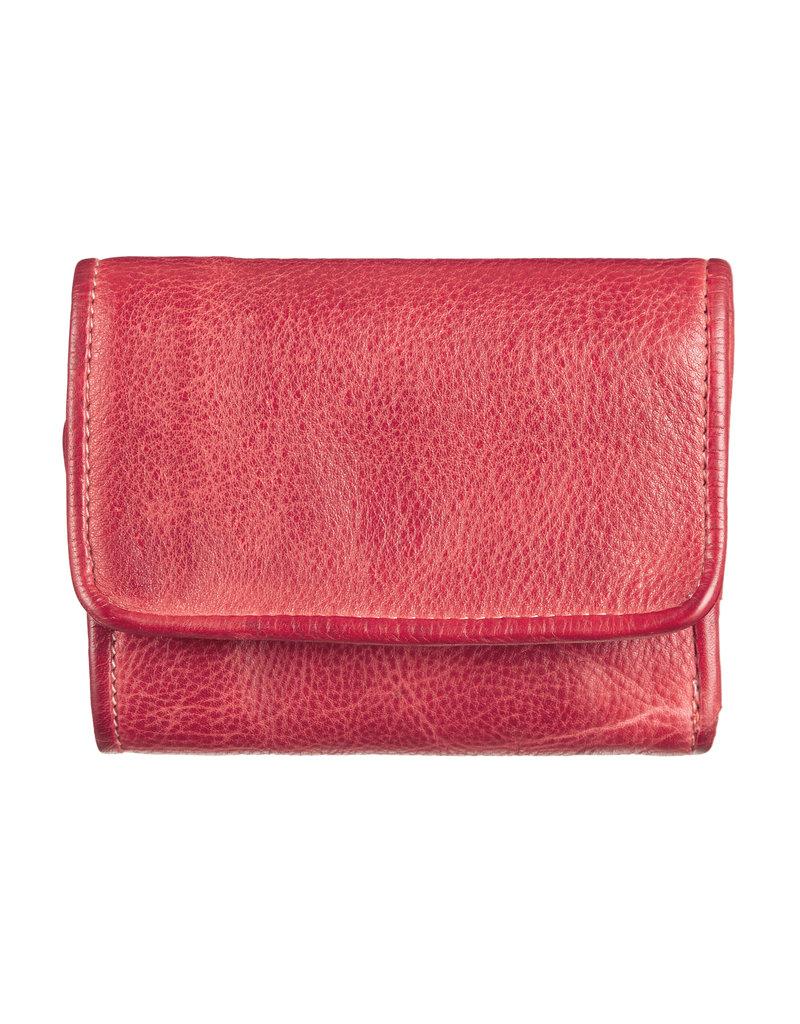 Bull & Hunt Kleines Weiches Damen Geldbörse Vintage Rot
