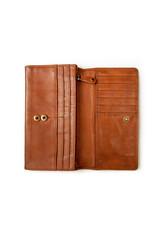 Harold's Leder Damen Geldbörse Überschlag Cognac