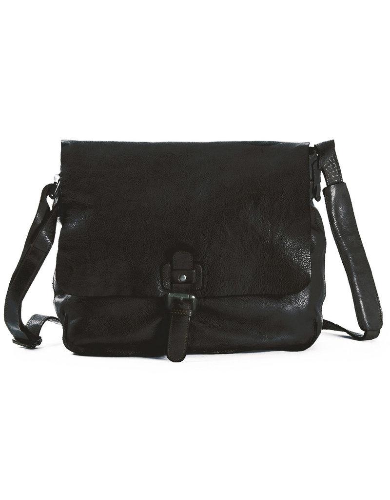 Harold's Washed Leder A4  Schultertasche  Uberschlagtasche