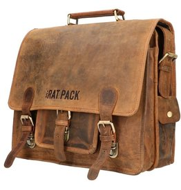 The Rat Pack Small Leren Fietstas Retro Schooltas