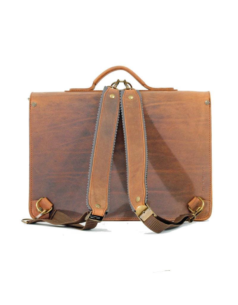 Ruitertassen Leder Handverarbeitete Umhängetasche Rucksack 2 Fachs