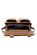 Ruitertassen Leder Handverarbeitete Umhängetasche Rucksack 3 Fachs