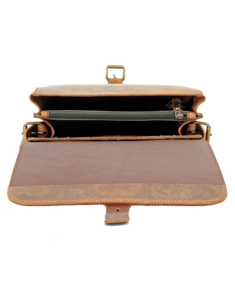 Ruitertassen Leder Handverarbeitete  Rucksack Umhängetasche 2 Fachs