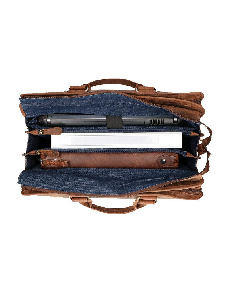 The Rat Pack 17 Inch Leder Laptoptasche Arbeitstasche