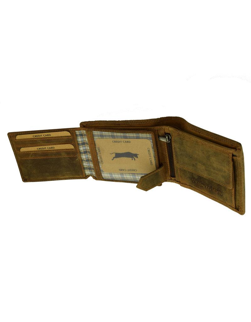 Herren Portemonnaie Viele Kreditkartenfächer RFID Hochformat