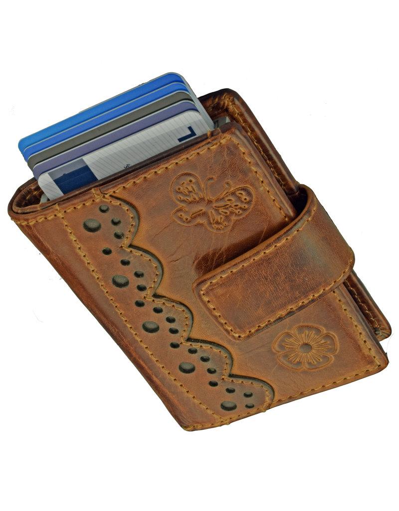 Lederwaren Daniëlle Cardprotector Geldbörse mit Kleingeldfach Laser Engrave