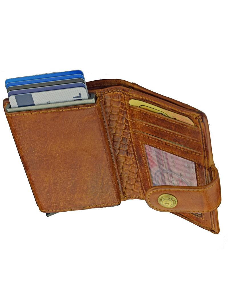 Lederwaren Daniëlle Cardprotector Geldbörse mit Kleingeldfach Embossed