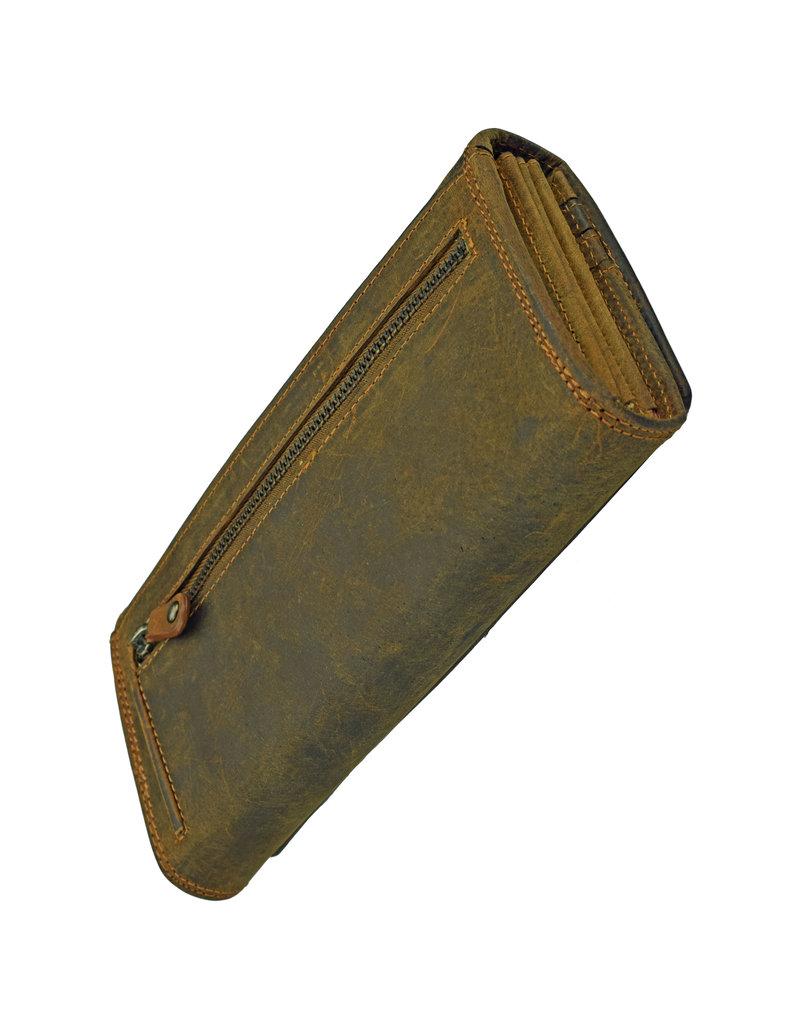 Damen RFID Geldbörse Mit Reißverschluss