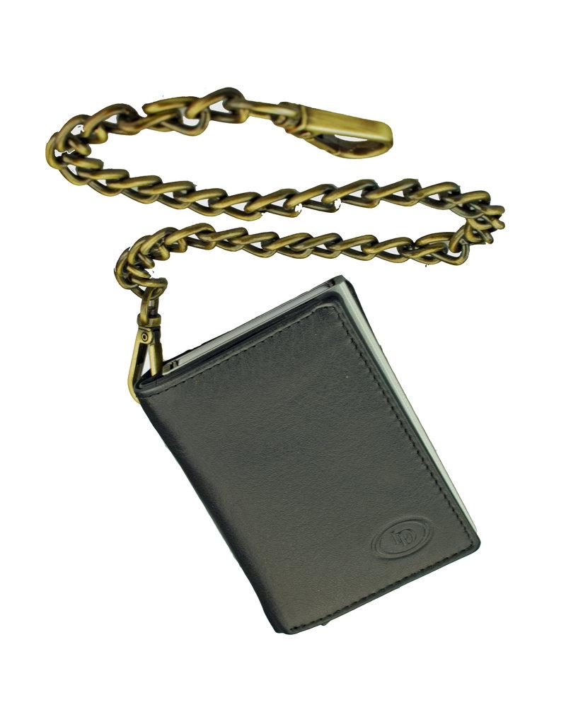 Lederwaren Daniëlle Ketting Portemonnee met Secrid of Figuretta Cardprotector Zwart