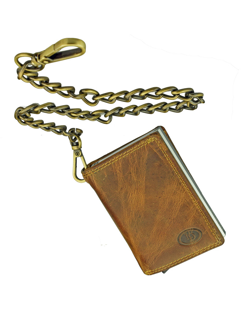 Lederwaren Daniëlle Kette Geldbörse mit Secrid oder Figuretta Cardprotector Hunterleder
