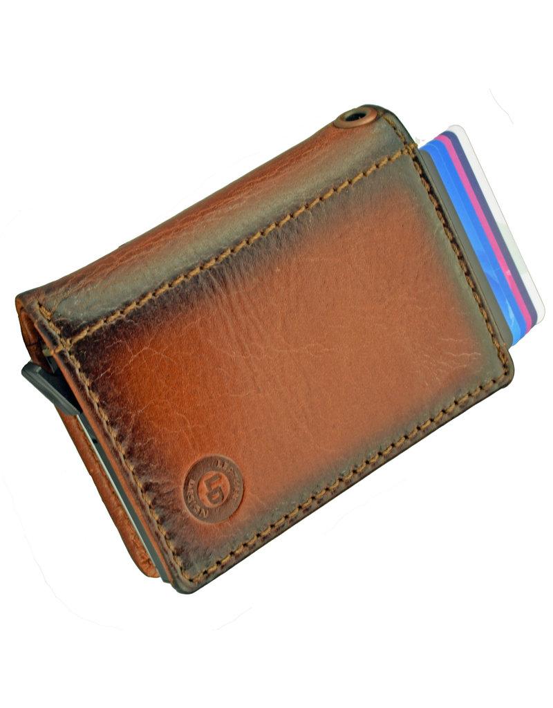 Lederwaren Daniëlle Kette Geldbörse mit Secrid oder Figuretta Cardprotector Burnt
